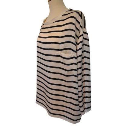 Steffen Schraut Zijden blouse met gestreept patroon