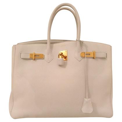 """Hermès """"Birkin Bag 35"""" in het wit"""