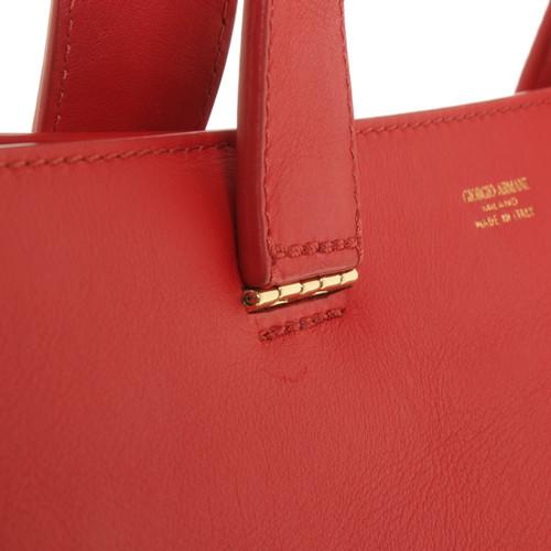 27d123a0dc4d Giorgio Armani Handbag in red - Second Hand Giorgio Armani Handbag ...
