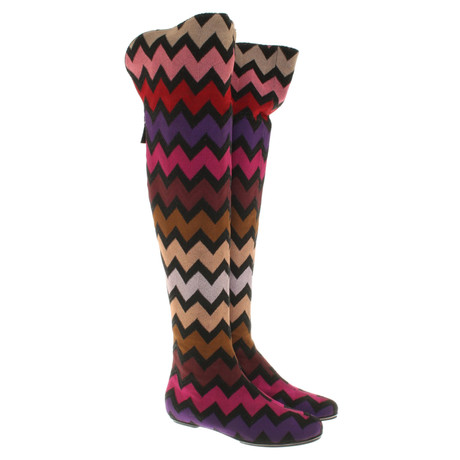 Overknees in Overknees in Missoni Missoni Multicolor Bunt Bunt Muster Multicolor PTwYTZq5