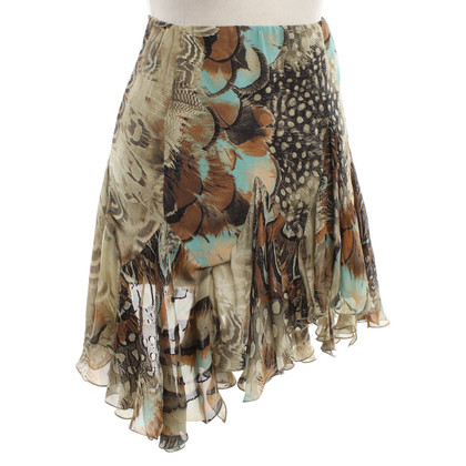 Roberto Cavalli Short skirt with springprint