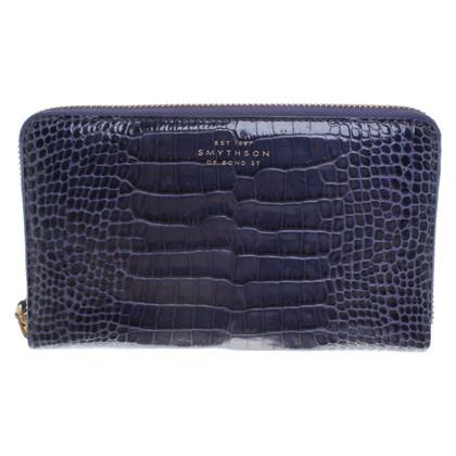 Smythson Portemonnaie in Blau