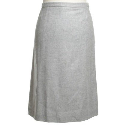 Loro Piana Cashmere Skirt in Gray