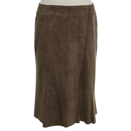 Marc Cain Suede skirt in grey brown