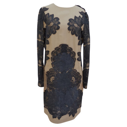 Lanvin Silk dress with lace appliqué