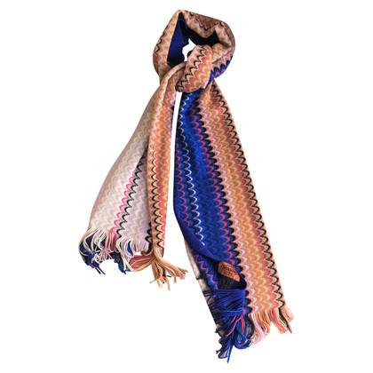 Missoni Wool scarf with wavy pattern