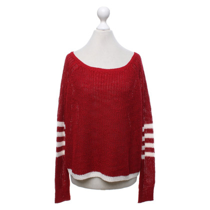 360 Sweater Pullover in Rot/Creme