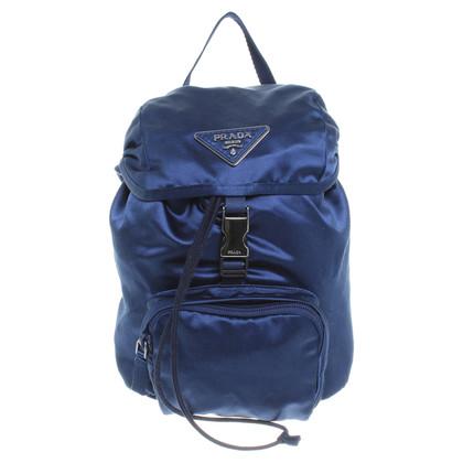 Prada Satin backpack in blue