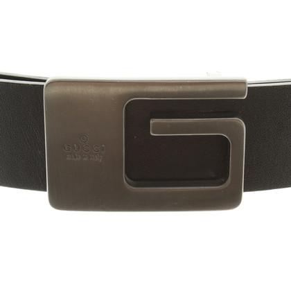 Gucci Schwarzer Gürtel aus Leder