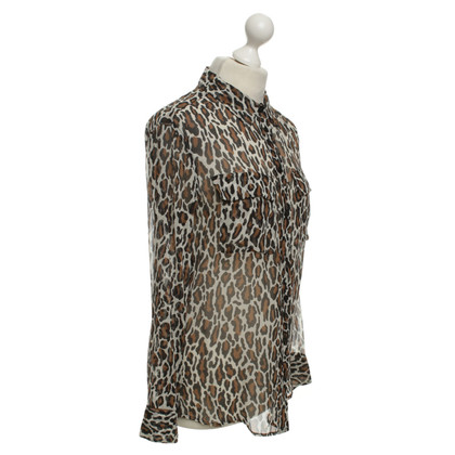 Equipment Blouse met animal print