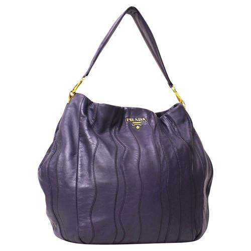 Prada Handbag In Purple
