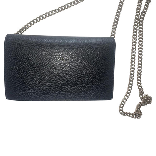 2203d33f236d Gucci Betty Leather Chain Wallet, Black - Second Hand Gucci Betty ...