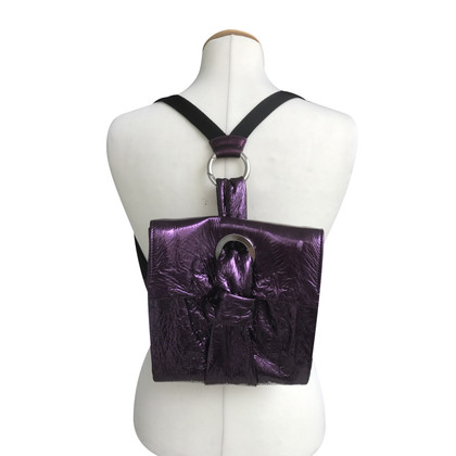 Talbot Runhof Backpack asu leather in purple