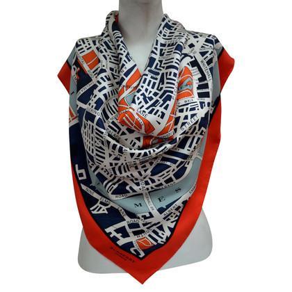 Burberry Prorsum Foulard en soie avec motif à carreaux