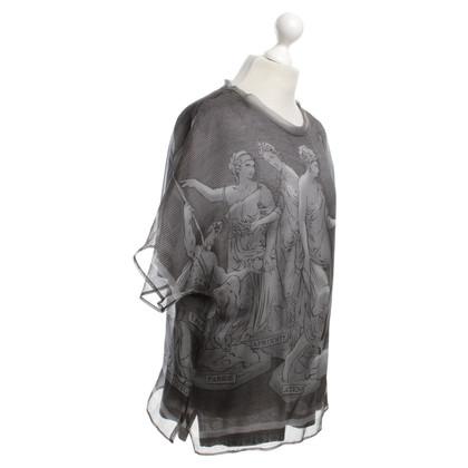 Dolce & Gabbana Silk blouse and shirt in grey