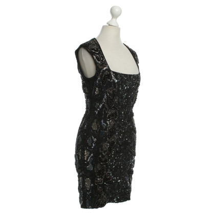 All Saints Sequin dress in black
