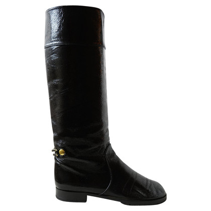 Marc Jacobs Black patent leather high boots