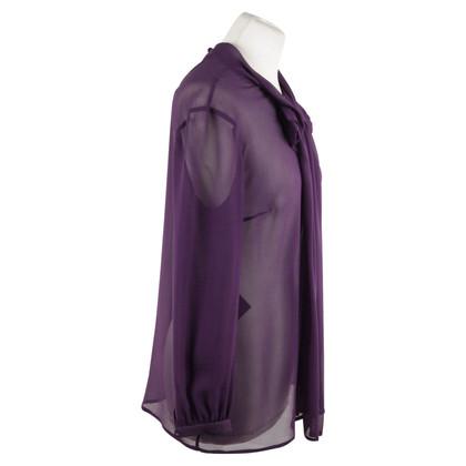 Prada Semi transparante knop blouse