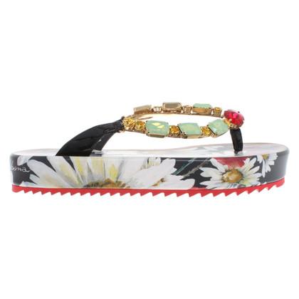 Dolce & Gabbana Separatore di dita con motivo floreale