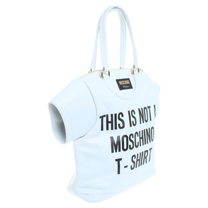 Moschino Lederhandtasche in T-Shirt Form