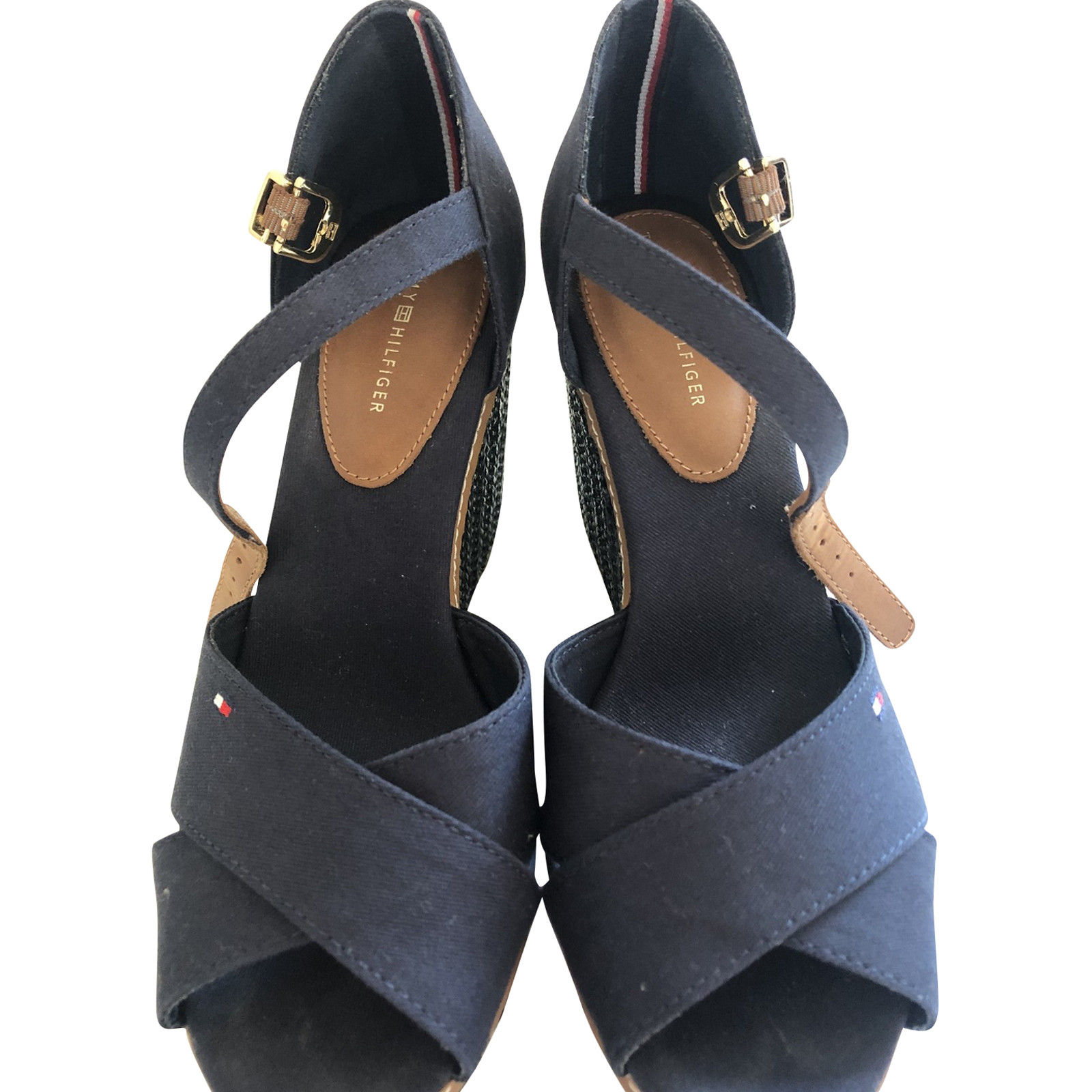 Tommy Hilfiger Sandali in Blu Second hand Tommy Hilfiger