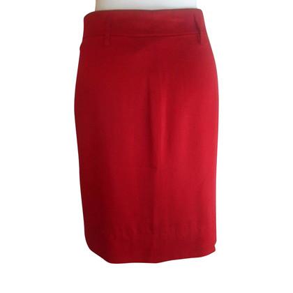 Calvin Klein Jupe en soie rouge