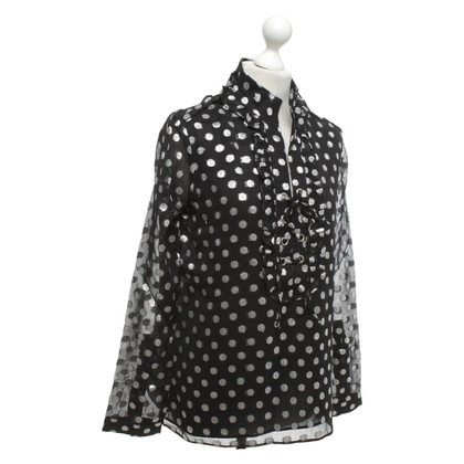 Dodo Bar Or Gestippelde blouse
