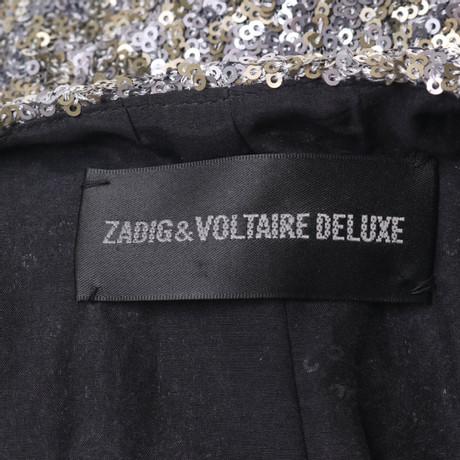 Besatz Bunt Zadig Zadig amp; Muster Pailletten Weste Voltaire amp; mit Voltaire 8zgwwqF