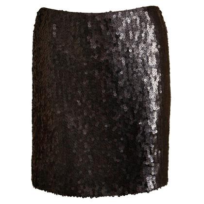 Chanel Schwarzer Paillettenrock