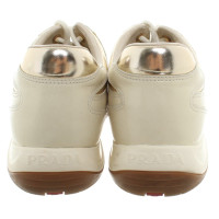 Prada Cream colored lace-up shoes