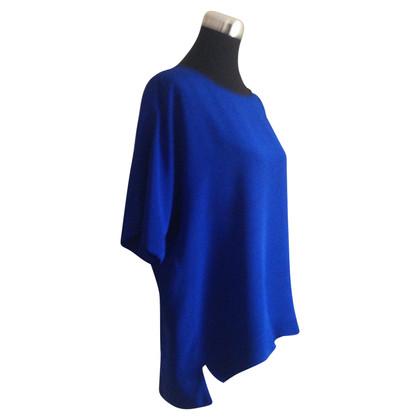 Tibi Blouse de soie bleu royal