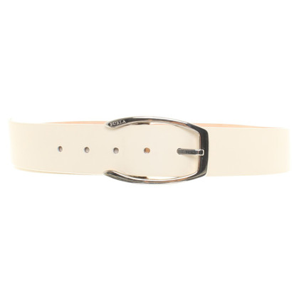 Furla Belt in creamy white