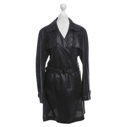 Hugo Boss Leather coat in black
