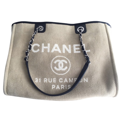 "Chanel ""Deauville Canvas Tote"""