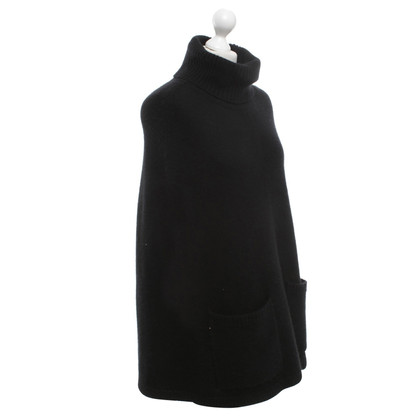 Joseph Turtleneck Cape in Black