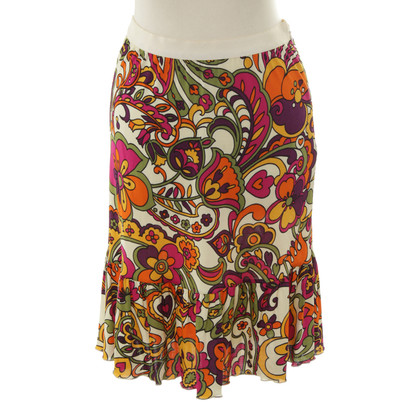 Moschino skirt colorful floral print