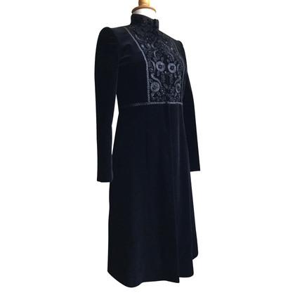 Blumarine manteau de velours