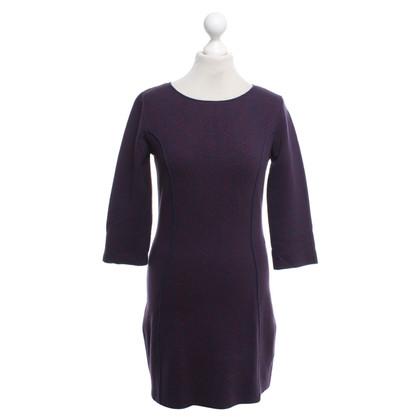 Patrizia Pepe vestito lavorato a maglia in viola / rosso
