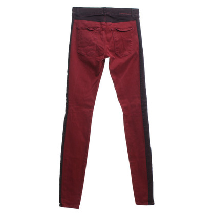 Current Elliott Skinny-Jeans in Rot/Bordeaux