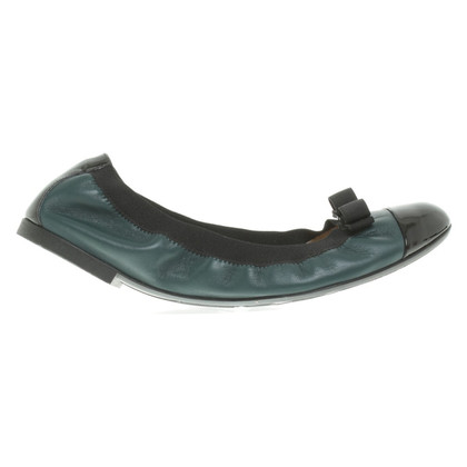 Salvatore Ferragamo Ballerinas in dark green