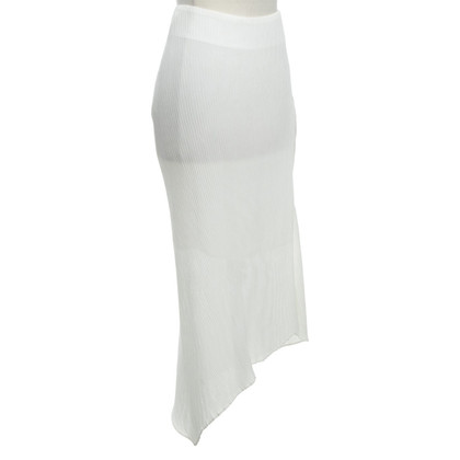 McQ Alexander McQueen Gonna asimmetrica in bianco