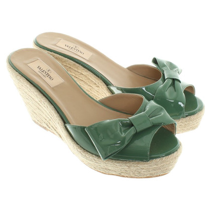Valentino Green wedges with loop
