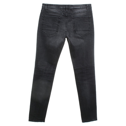 Closed Used-look jeans in dark gray