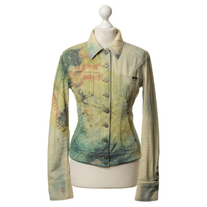 John Galliano Denim jacket with Printmix
