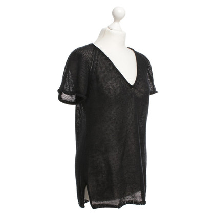 Filippa K Lino-shirt in nero