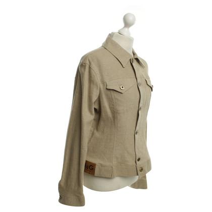 D&G giacca di lino in ocra