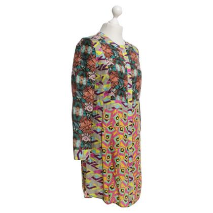 Antik Batik Kleid mit Muster
