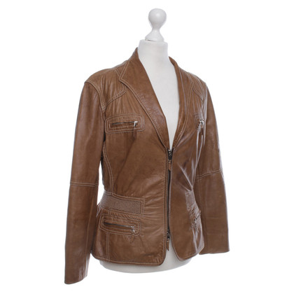 Armani Cognac-colored leather jacket