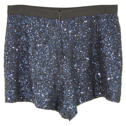 French Connection Shorts di paillettes in Blue