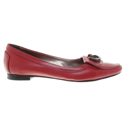 Hugo Boss Ballerinas in red